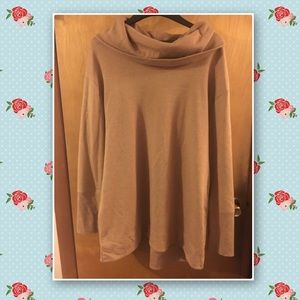 Tan Cowl Neck Sweater Tunic Bundle Xxl EUC
