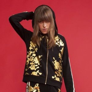 Cynthia Rowley Hoodie with Gold Foil Detail - W M