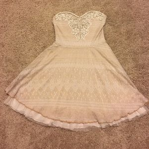 FREE PEOPLE Strapless A-line dress