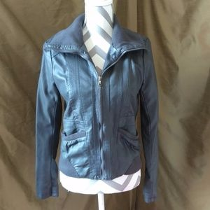 😺 Awesome Faux-Leather Zipper Jacket - Junior's