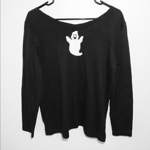 Spooky Halloween Off The Shoulder Sweater