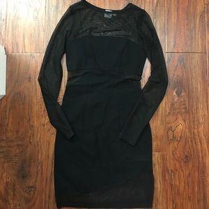 Asos sheer mesh black dress