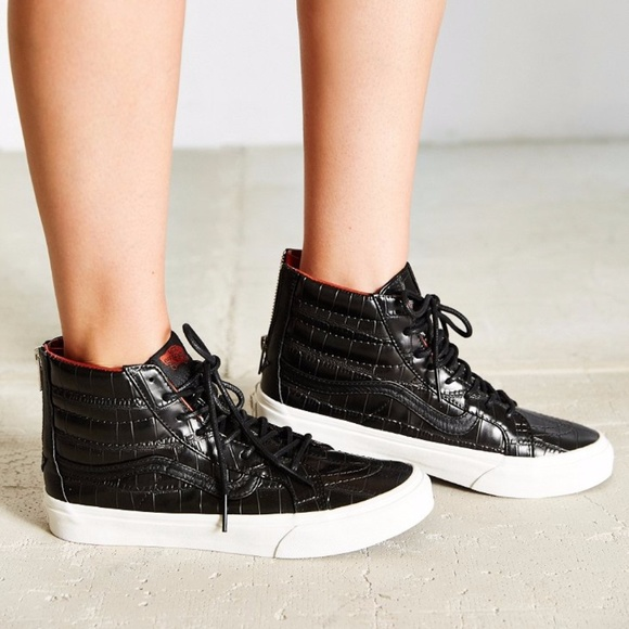 606bc3c614 Vans Sk8 Hi Slim Zip (Croc Leather) Black Women s.  M 59bf3e7fea3f365b720b5829