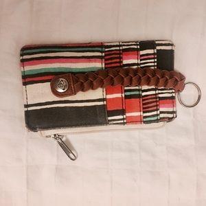 Roxy keychain card holder