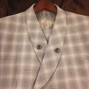Other - Tiglio Rosso Blue Check Double Breasted Suit 42R