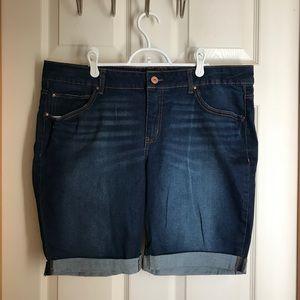 Faded Glory Bermuda Jeans Shorts sz 18 NWOT
