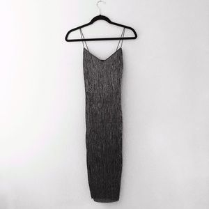 Dresses & Skirts - Black and silver midi dress Sz. XS