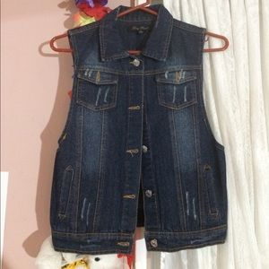 Jean vest! NOT FOREVER 21 JUST FOR EXPOSURE