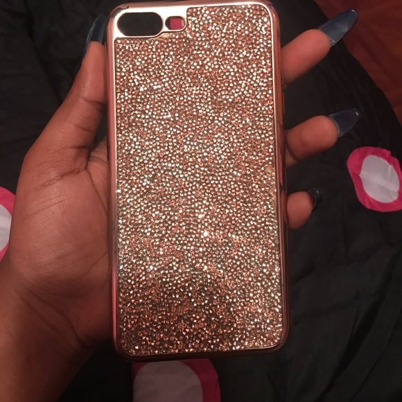 differently 1fa07 30f88 Rose Gold Glitter Iphone 7 Plus Case