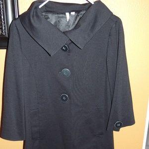 Frenchi black coat jacket size large Nordstroms