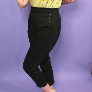 Black Voodoo Vixen Vintage Style Pants