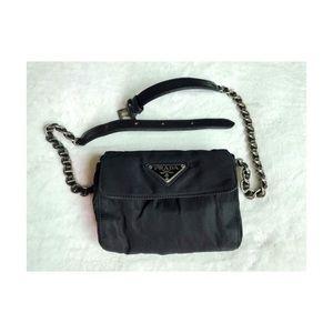 Vintage Prada Nylon Chain Belt Bag/Pouch