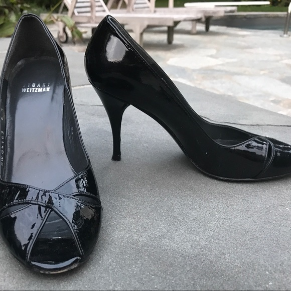f7c05f57e1 Stuart Weitzman Shoes | Patent Leather Peeptoe Pumps | Poshmark
