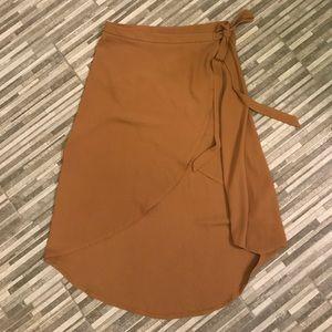 Tan Tobi Wrap skirt
