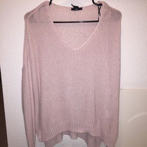 Baby pink H&M sweater