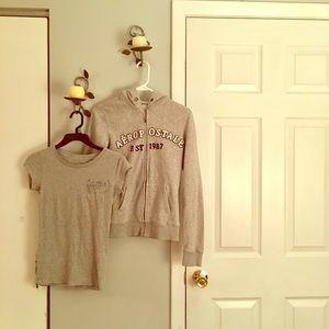GUC Hooded  full zip sweatshirt with matching tee