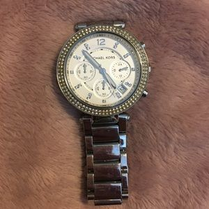 Michael Kors watch with crystals