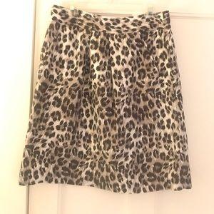 Banana Republic leopard silk skirt