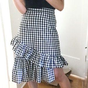 STYLENANDA Midi Skirt With Ruffles In Gingham
