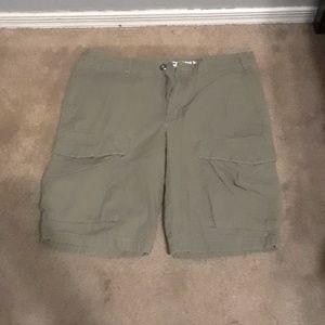 Mossimo supply co green cargo shorts