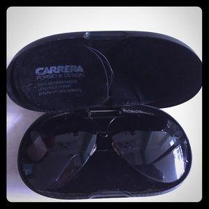 Porsche design Carrera aviator sunglasses in case