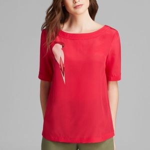 🆕 Marc by Marc Jacobs Pink Parrot Silk Top