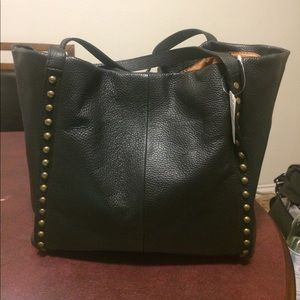 Black Italian leather bag. Never used!
