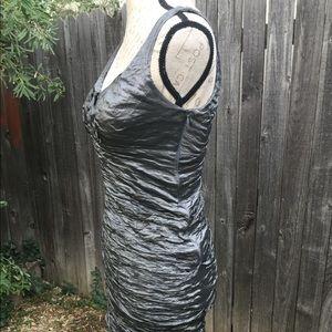 Nicole Miller Bodycon Dress- Metallic Silver