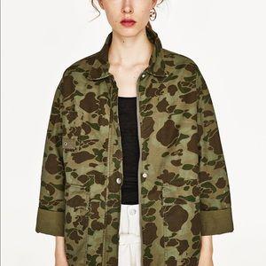 Zara Camouflage Jacket