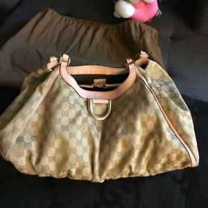 Authentic Gucci pink shoulder purse