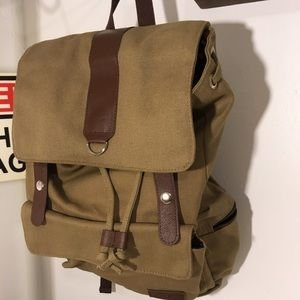 Bella Russo Bags Nwot Unisex Canvas Backpack Poshmark