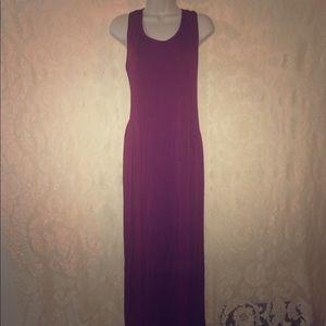 Plus size 2x high side slit burgundy dress