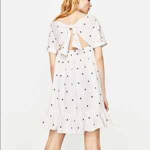 d3fa8cde Zara Dresses | Polka Dot Embroidered Dress | Poshmark