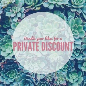 ✨Bundle your likes for a Private Discount!✨