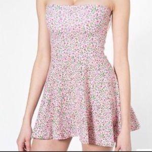 American Apparel floral circle skater skirt, L