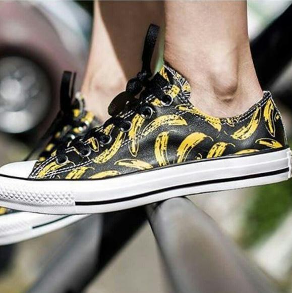 f3c1109043bc NWT Converse Andy Warhol Banana Low Top Sneaker