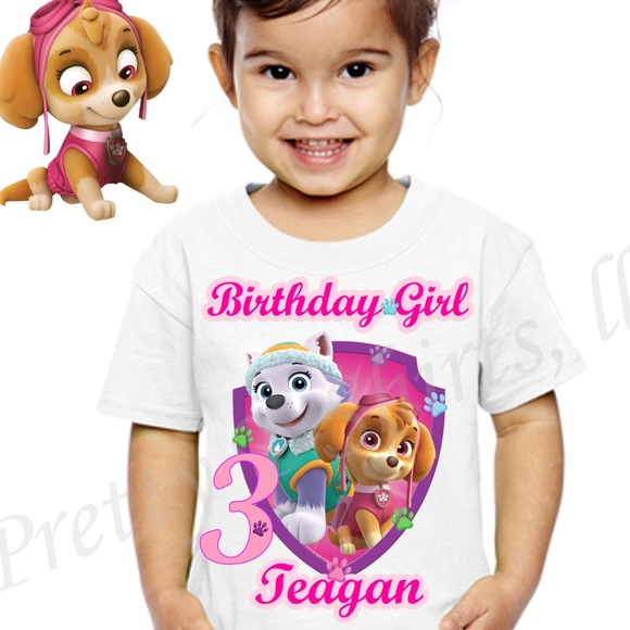 PAW PATROL SKYE BIRTHDAY SHIRT CUSTOM