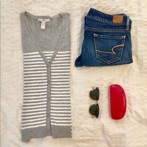 H&M Soft Striped Everyday Cardigan