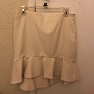 A brand new mini skirt with ruffled hem