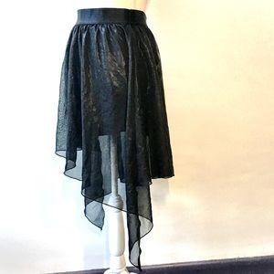 Lip Service Cult Black Asymmetric skirt, XL