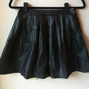 ASOS Black Leather Skirt