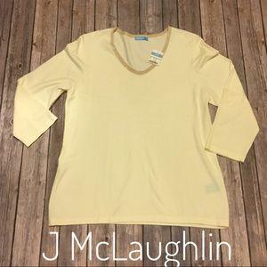 Sz L J McLaughlin Candlelight U neck pullover