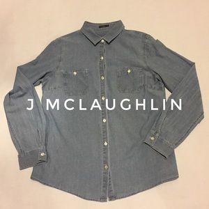 Sz M J McLaughlin Denim Blouse