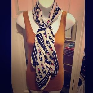 Lipstick print scarf