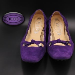 Tod's Purple Driving Moccasins EUC