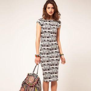Dresses & Skirts - ◽️◾️ Aztec Print Midi dress⬛️⬜️