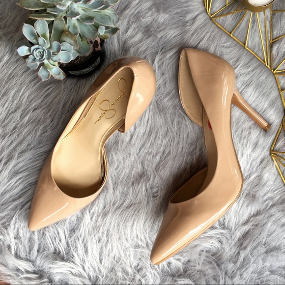 e907d0850eb JS NWT Claudette D'Orsay pump nude patent leather NWT