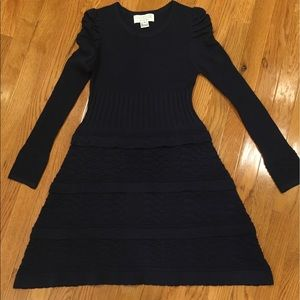 The Cue by Cher Qu Navy Blue Sweater Dress