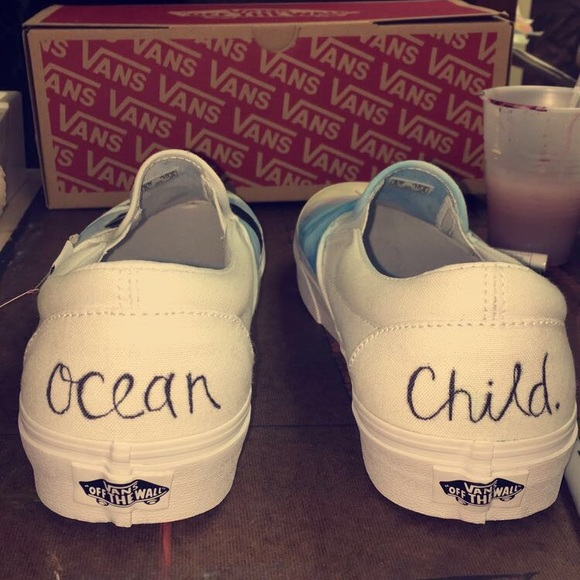 002bc5be61d6aa Brand new hand painted Ocean Child themed Vans.