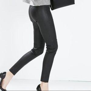ZARA 100% Authentic Leather Pants